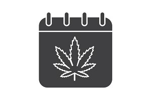 National Weed Day glyph icon