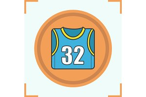 Basketball player's shirt color icon