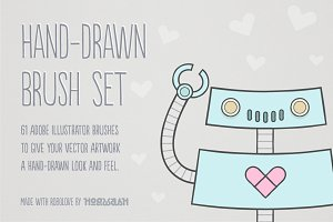 Hand-Drawn Illustrator Brush Set