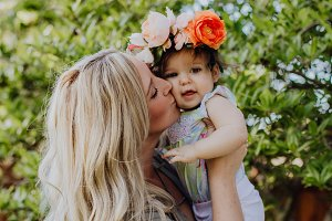 Mama and Flower Baby Love