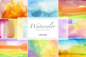 8 watercolor painted background