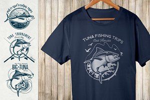 Vintage Tuna Logos
