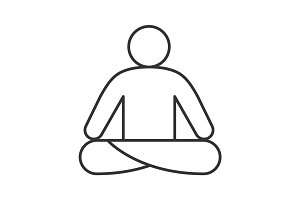 Yoga position linear icon