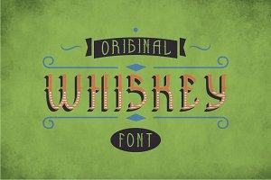 Whiskey Original Label Typeface