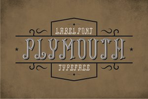Plymouth Vintage Label Typeface