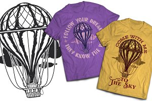 Airballon T-shirts And Poster Labels