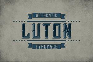 Luton Vintage Label Typeface