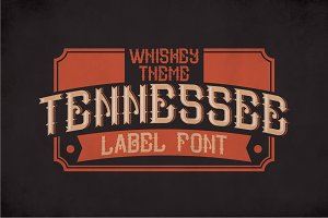 Tennessee Vintage Label Typeface