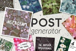 Natural Background Post Generator