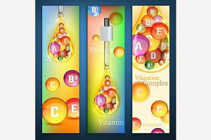 Vitamins Vertical Banners