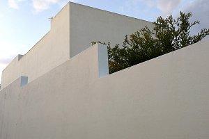 Modern white facade