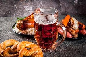 Selection food for Oktoberfest