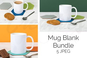 Blank Coffee Mug Mockup Bundle