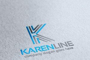 Karen Line Letter K Logo