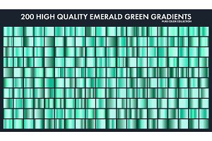 Grren emerald chrome gradient set,pattern,template.Nature,grass colors for design,collection of high quality gradients.Metallic texture,shiny metal background.Suitable for text ,mockup,banner, ribbon