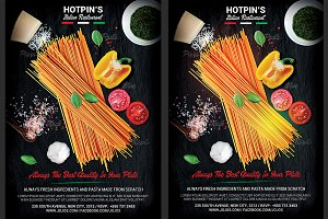 Italian Restaurant Flyer Template