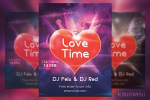 Love Time Valentines Party Flyer