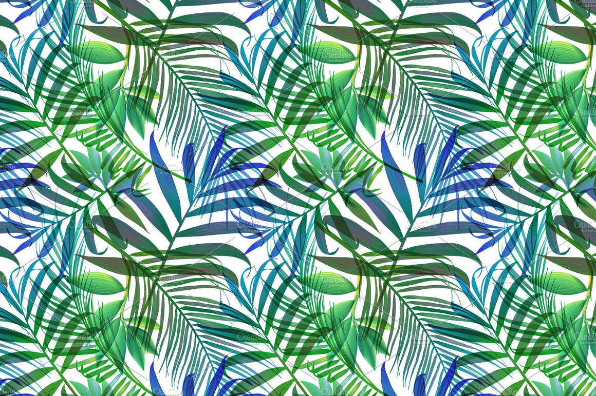 Aninimal Book: Tropical pattern. Jungle palm leaves ~ Graphic Patterns ...