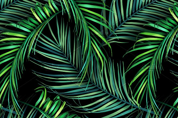 Jungle Palm Leaves Tropical Pattern Graphic Patterns Creative Best Tropical Leaves Pattern