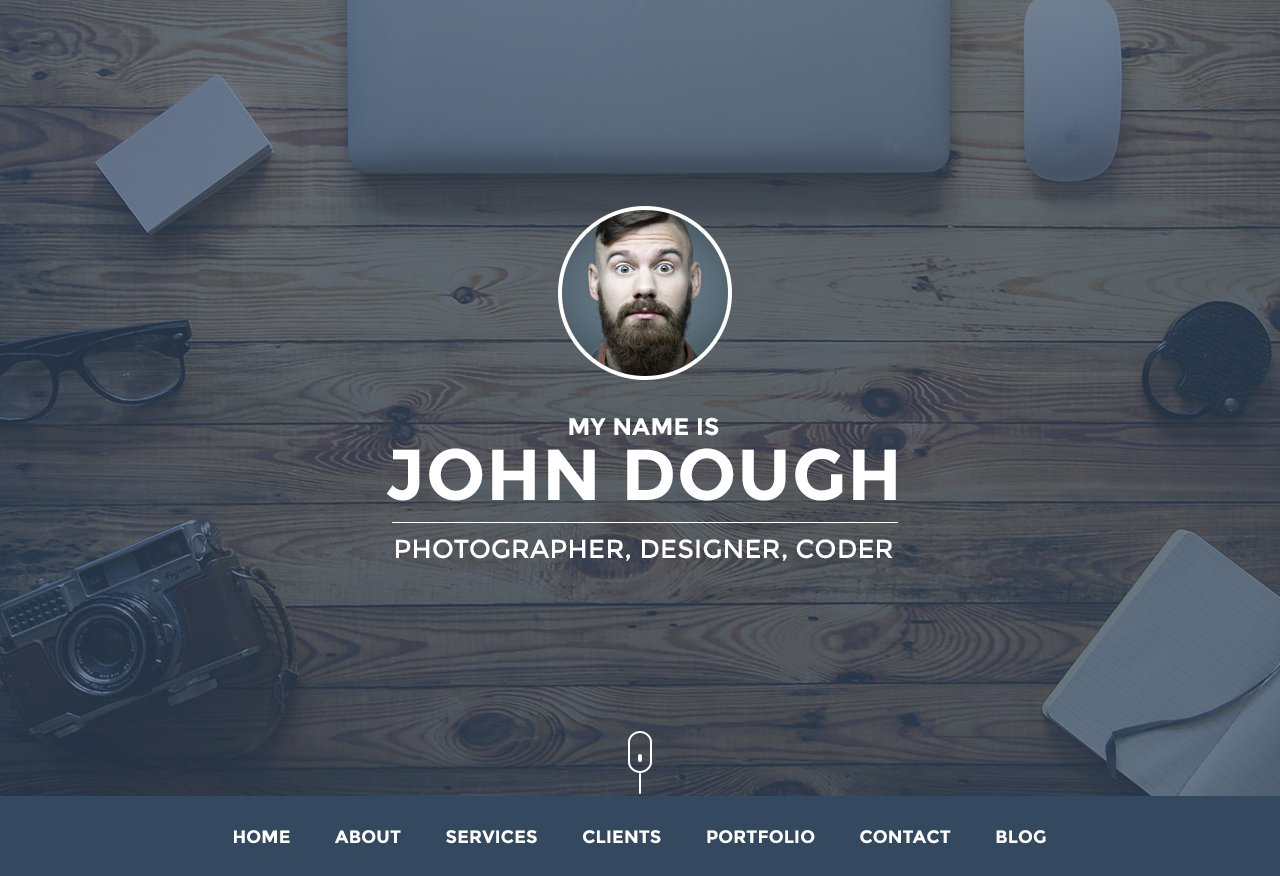 Personal Website Portfolio HTMLCSS Themes Creative Market - Personal landing page template