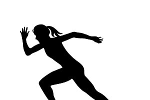 running girl icon, vector