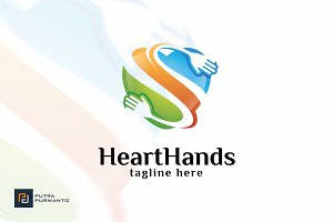 Heart Hands - Logo Template
