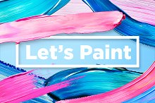 Let's Paint! Color Brush Strokes