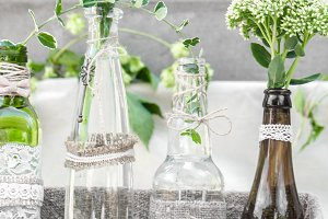 wedding decor bottles