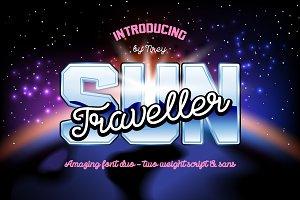 Sun Traveller - font duo