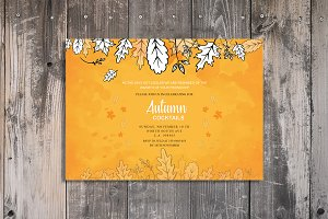 Autumn Cocktails Party Invitations