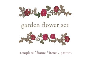 garden flower set (all in one)