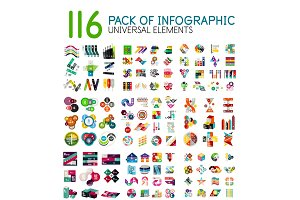 Mega collection of infographic templates