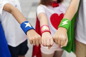 Superhero Boy Girl Brave Imagination