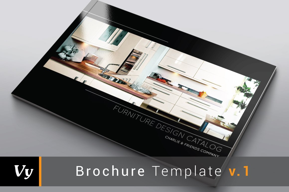 . Furniture Interior Catalog   Brochure Templates   Creative Market