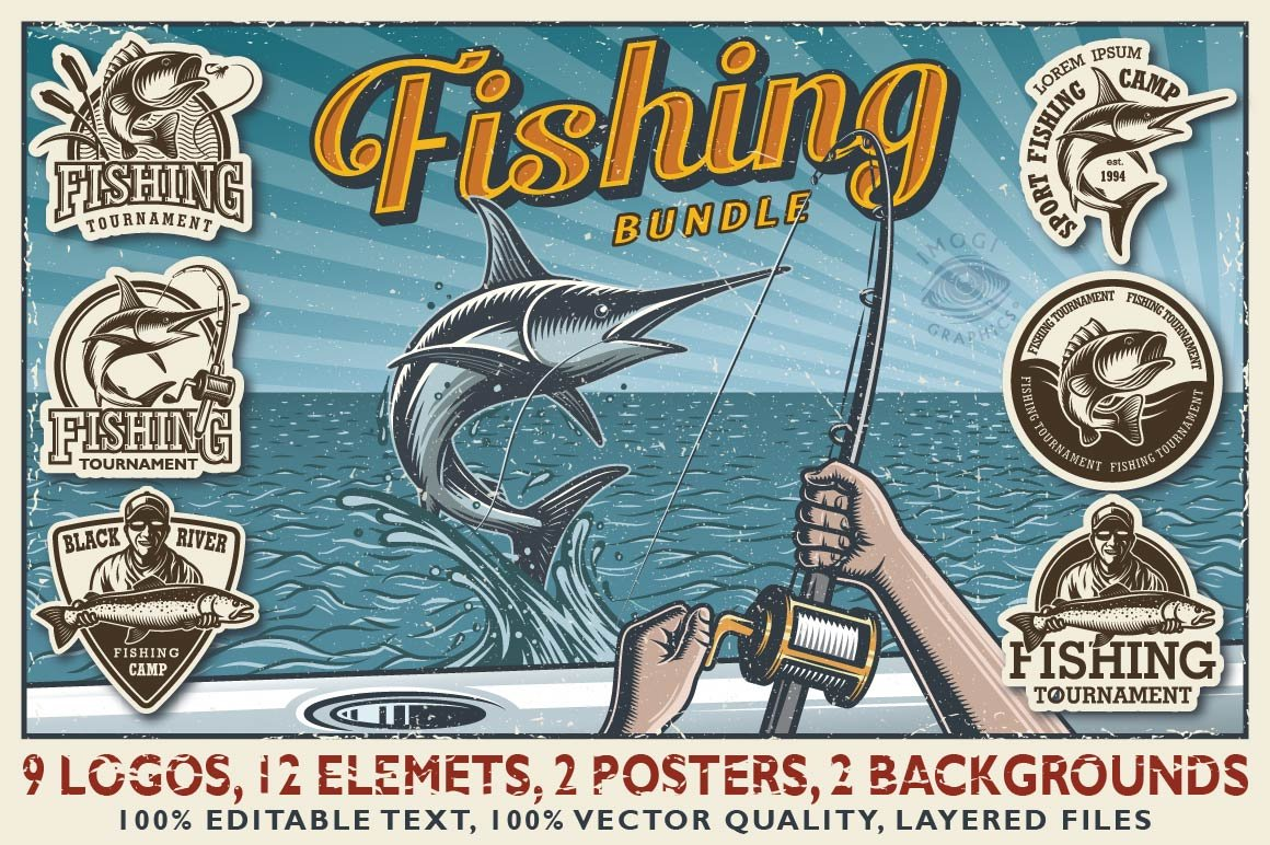 Fishing business card Photos, Graphics, Fonts, Themes, Templates ...