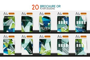 Set of A4 size business brochure or annual report covers