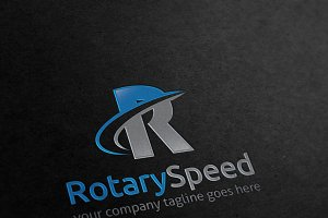 Rotary Speed Letter R Logo