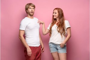 The Fhoto of beautiful couple, studio shoot