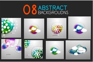 Collection of technology futuristic abstract backgrounds