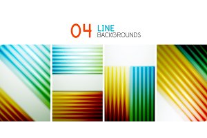 Set of straight lines vector backgrounds
