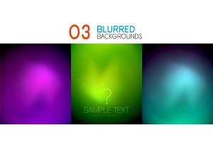 Set of deep color blurred mesh wallpapers