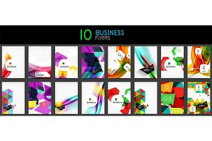Collection of business annual report covers and flyers designs