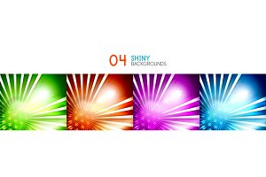 Set of vector shiny abstract backgrounds