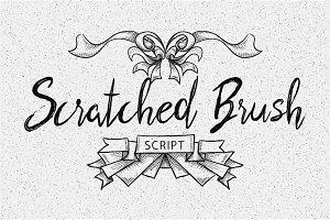 Scratched Brush Script Font