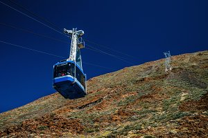Cable car to Teide volcano, Tenerife