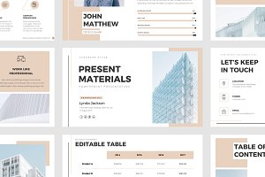 Present Materials PPT Template