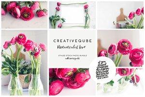 Ranunculus Love Stock Photo Bundle