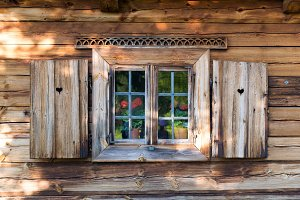 Opened shutters