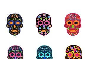 6 Skull background