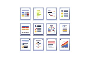 Set of elements for infographic design